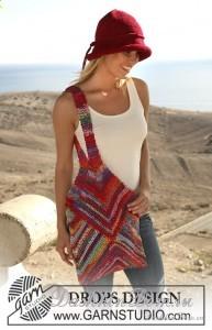 Шапочка и сумка торба - Вязание для женщин Шапочка и сумка торба из разноцветной пряжи - просто нужны на отдыхе.