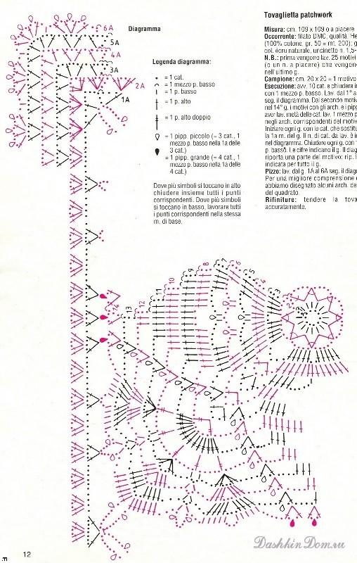 Комментарий: Рхема 9 - салфетки и скатерти крючком схемы.