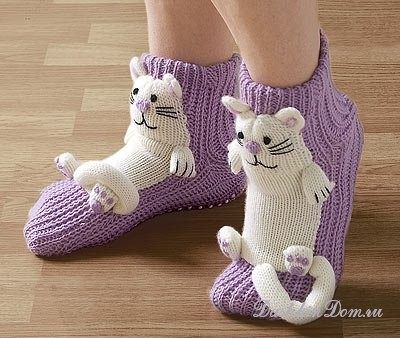 Носки со схемами вязания.