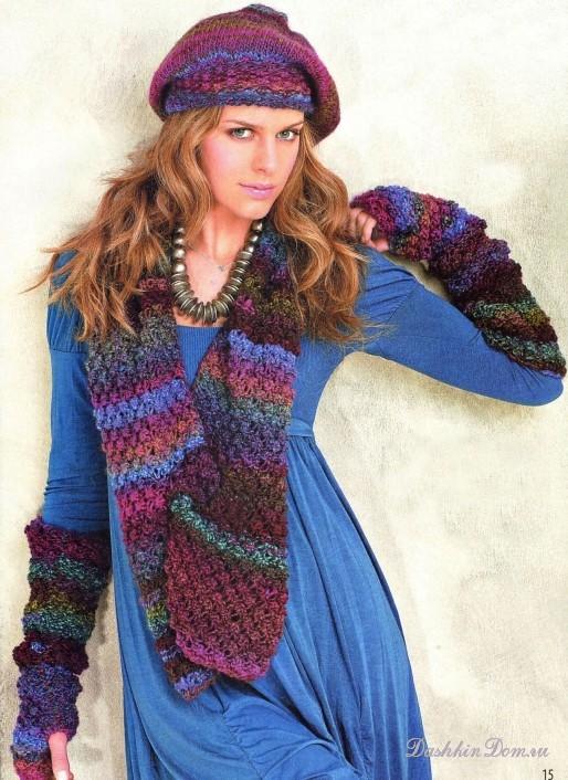 Описание: Женский вязаный берет Схемы вязания.