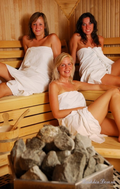 Girls in the sauna