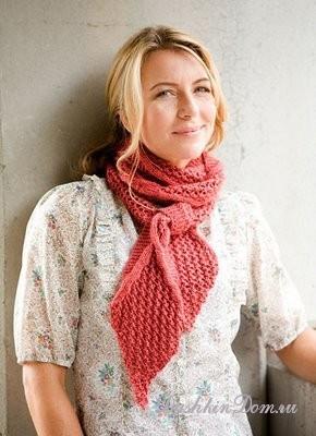 вязаные шарфы спицами подборка моделей