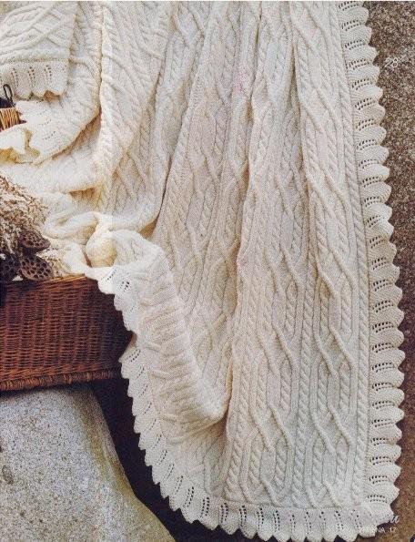 Описание вязания пледа