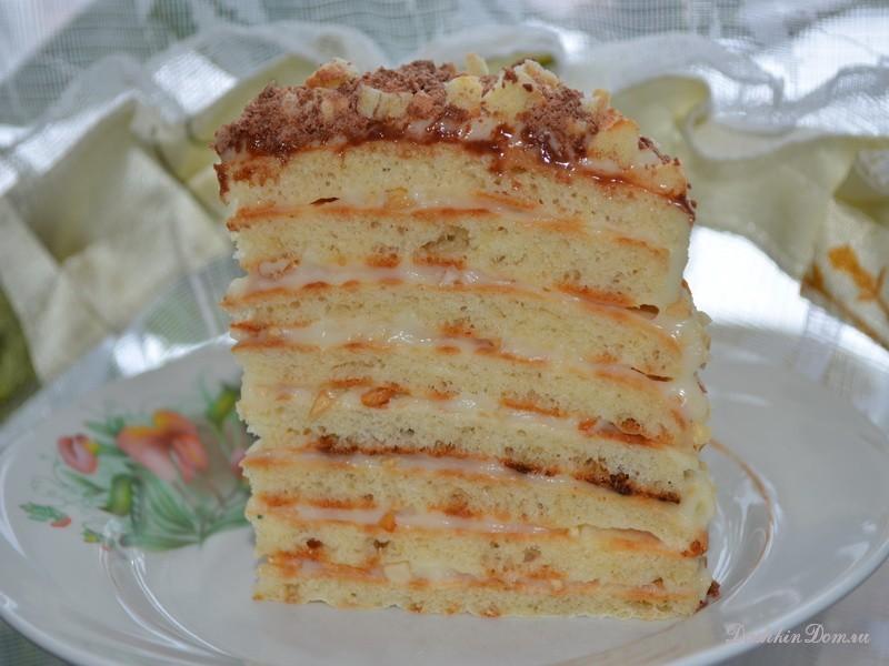 Сметанно желатиновый торт рецепт