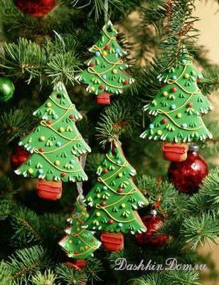 Гирлянды на елка своими руками