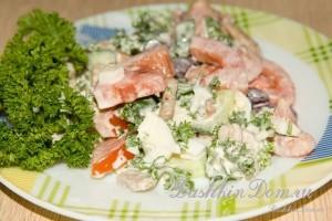 салат с фасолью фото рецепт
