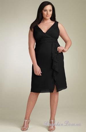 платья для полных с запахом (33 фотографии) Модные платья 2012.