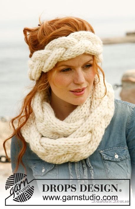 http://spicami.ru/archives/date/2012/01. шарф-коса и повязка на голову.