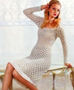 платье на лето вязаное