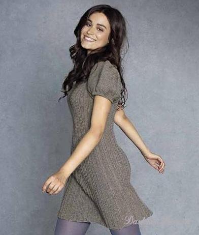 модное вязаное платье, вязаная