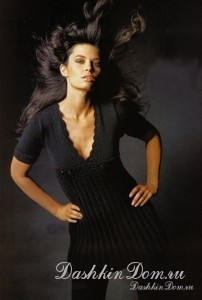 туника-платье спицами