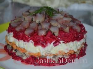 салат с сельдью и грибами рецепт