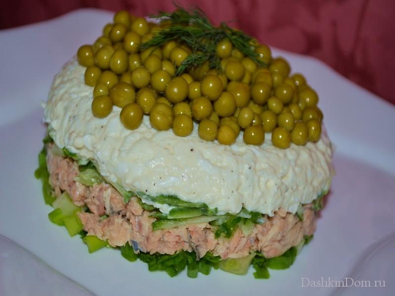 салат из рыбной консервы рецепт