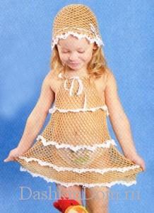 ажурный сарафан для девочки