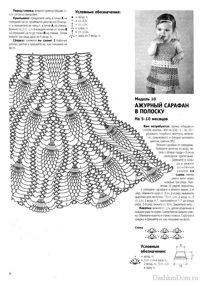 Схема вязание сарафанов для малышей