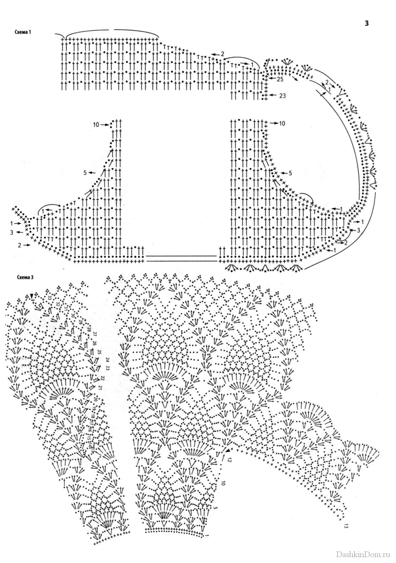 Круглый ворот крючком схема