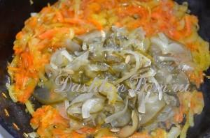 готовим овощи для блюда