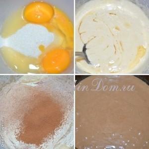 готовим тесто для торта