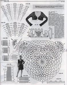 Вязаные платьица крючком (выборка, модели с описанием) .