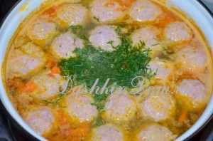 готовим суп с фрикадельками