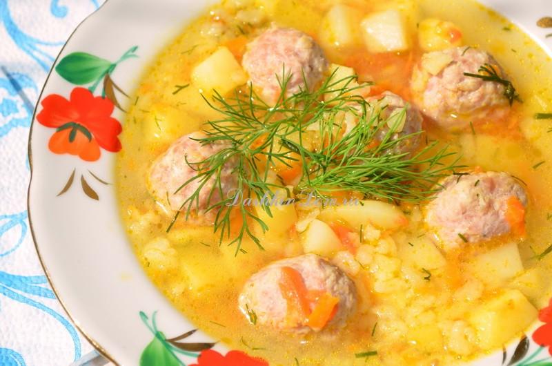 суп с фрикадельками рецепт с пошаговым фото