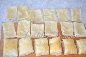 готовим пирожные из слоеного теста