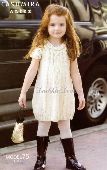 вязаное платье-туника для
