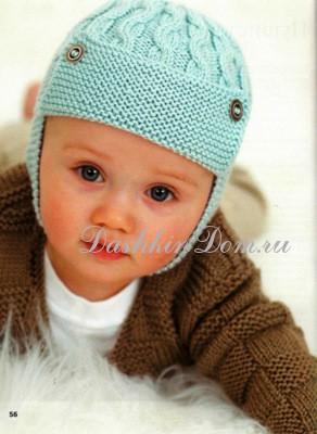Шапка вязание спицами для малышей с описанием