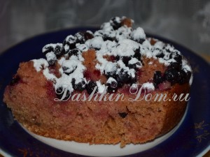 рецепт коврижка с ягодами с фото