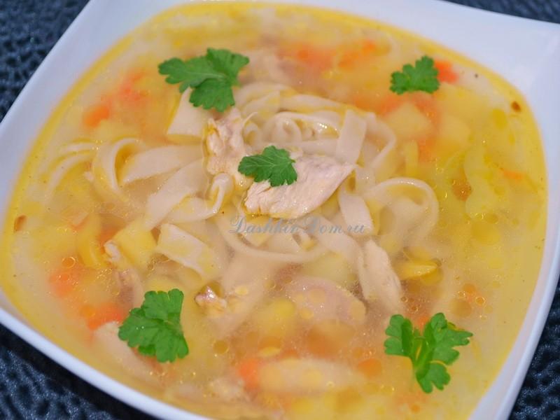 куриный суп с лапшой рецепт с фото