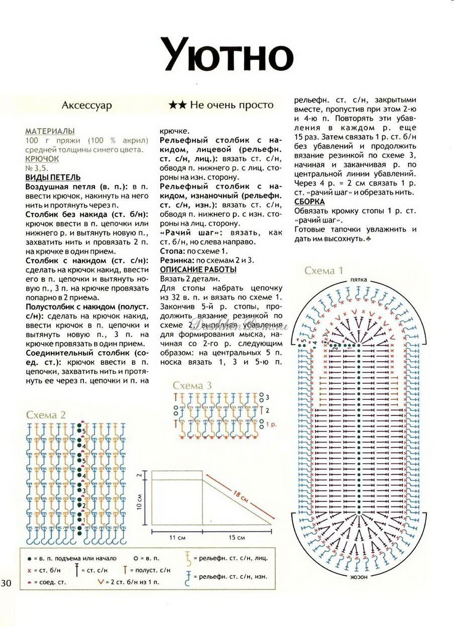 Сапожки спицами схема и описание фото 728