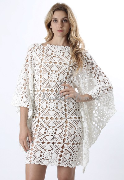 вязаные платья крючком подборка моделей с описанием