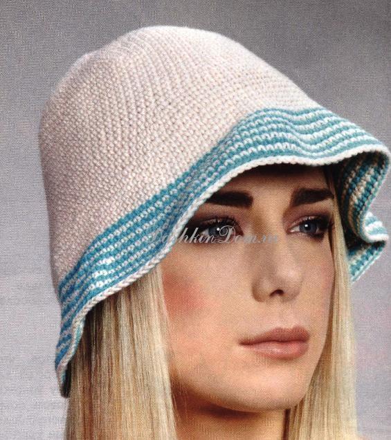 Вязание крючком панама для женщины 25