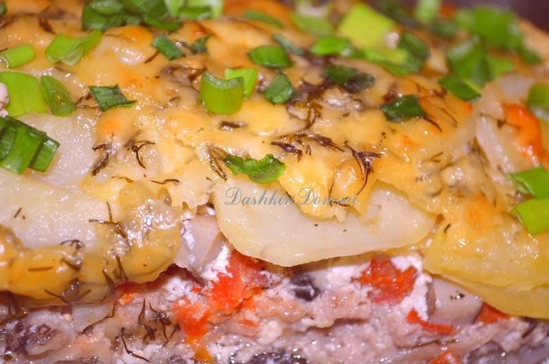 картофельно-мясная запеканка