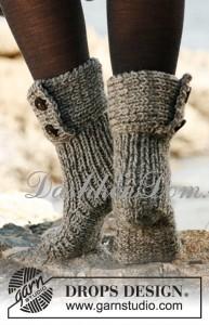 как связать теплые носки