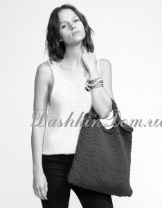 сумка-мешок спицами