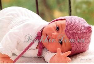 шапочка с ушками для новороженного