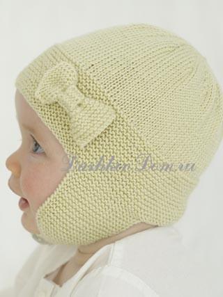 Вязанная шапочка для девочки от о до 1
