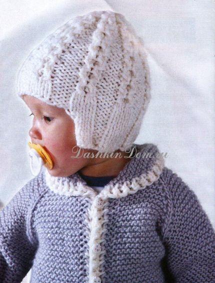 шапочка для новорожденного спицами 14 моделей с описанием