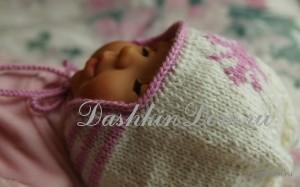 шапочка спицами для малыша
